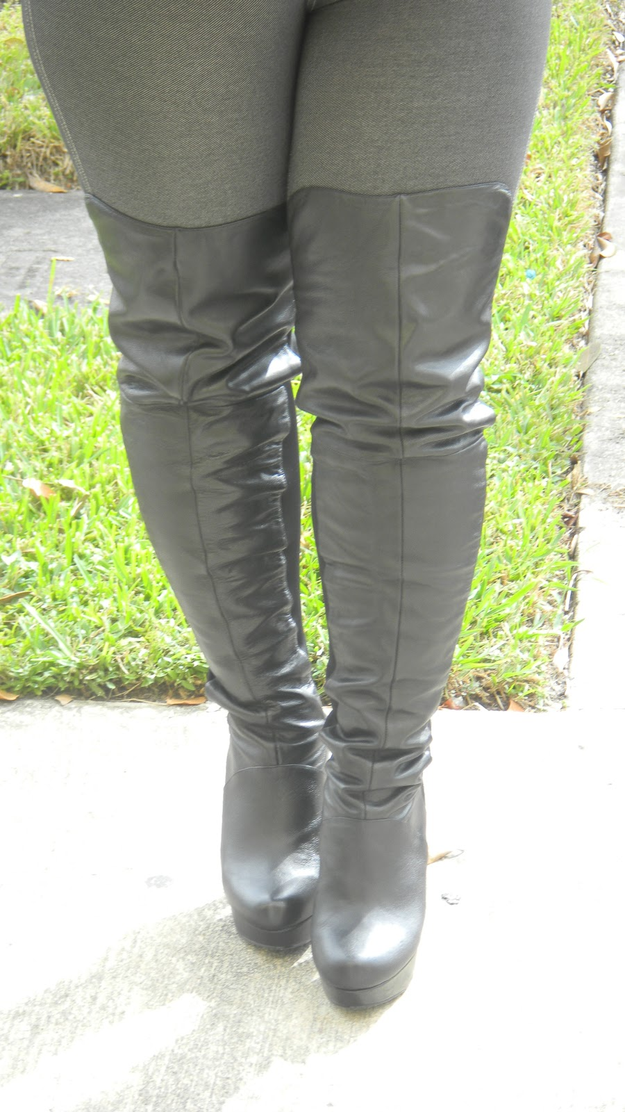 Over The Knee Boots For Big Legs | Tsaa Heel