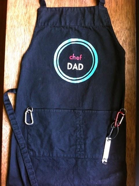idéia de avental dia dos pais