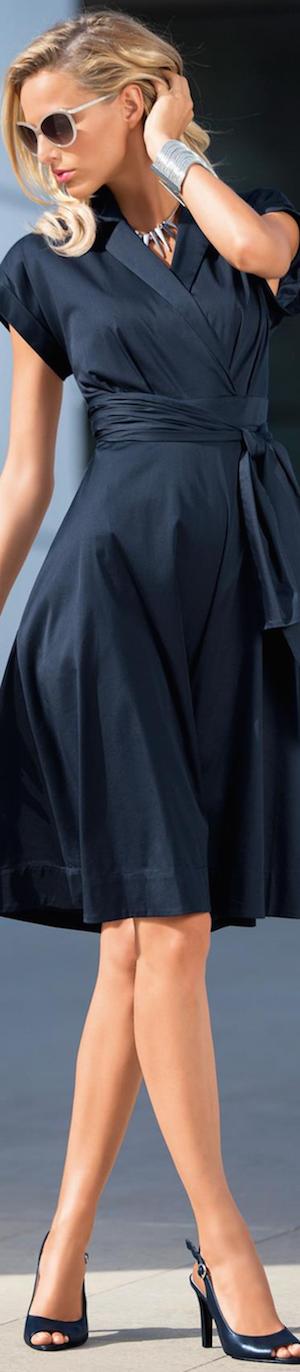 Madeleine Navy Shirt Dress