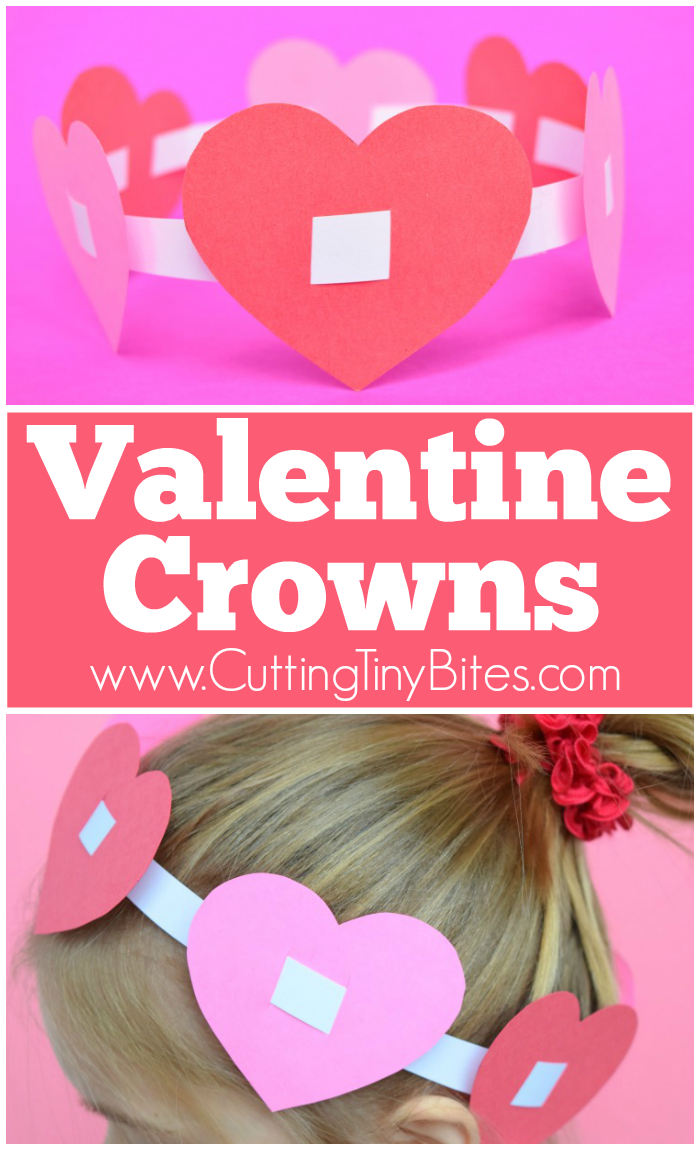 Valentine crowns what can we do with paper and glue for Simple motors for kids