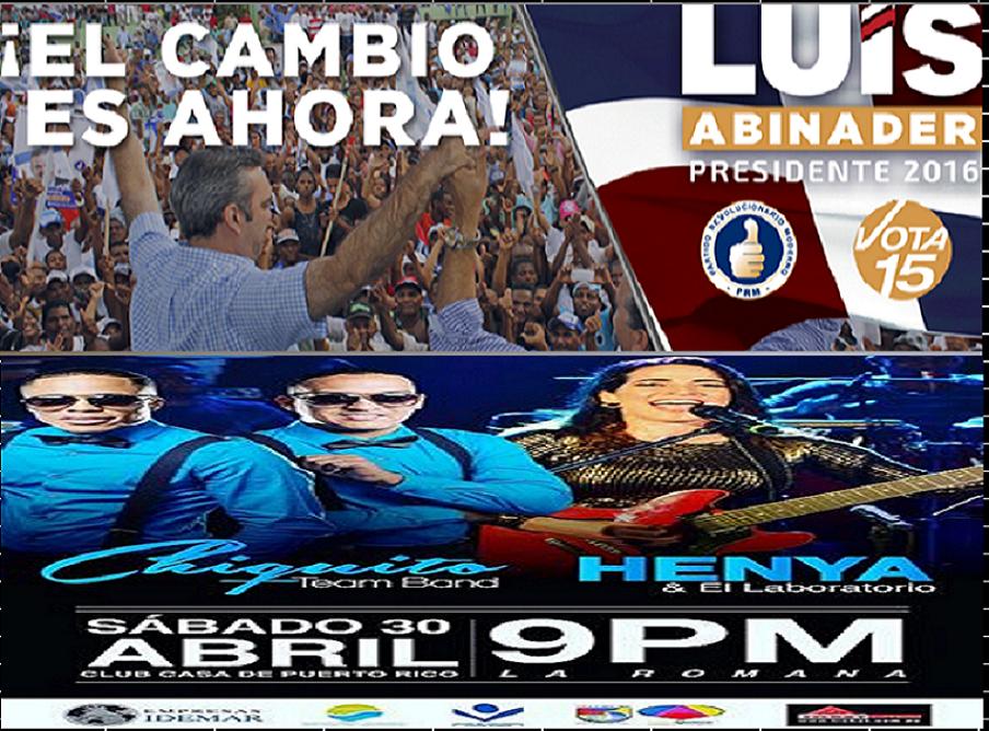 LUIS ABINADER Y PROMO HENYA