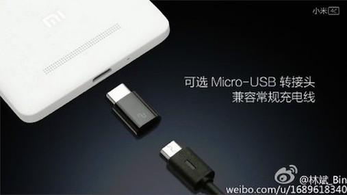 Xiaomi MI 4C akan memliki konektor USB Type-C dan Micro USB