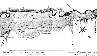 Composición de los planos anteriores, para mostrar el área del municipio de Zaragoza y su entorno