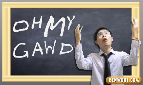 blackboard oh my god