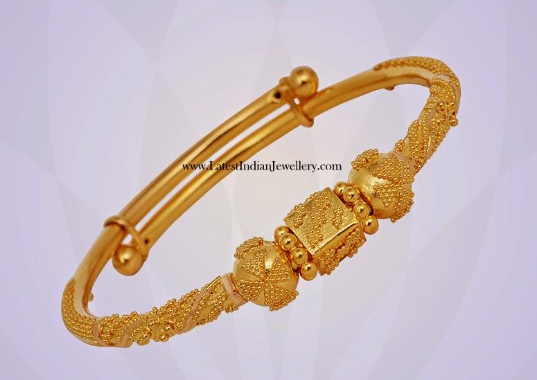 Adjustable Gold Baby Bangle
