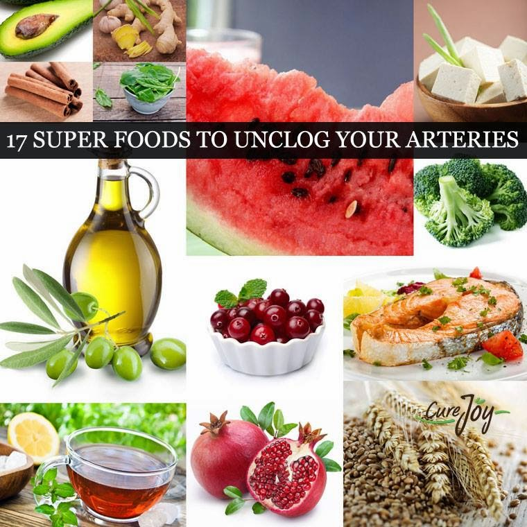 TOP 17 SUPER FOODS TO UNCLOG YOUR ARTERIES