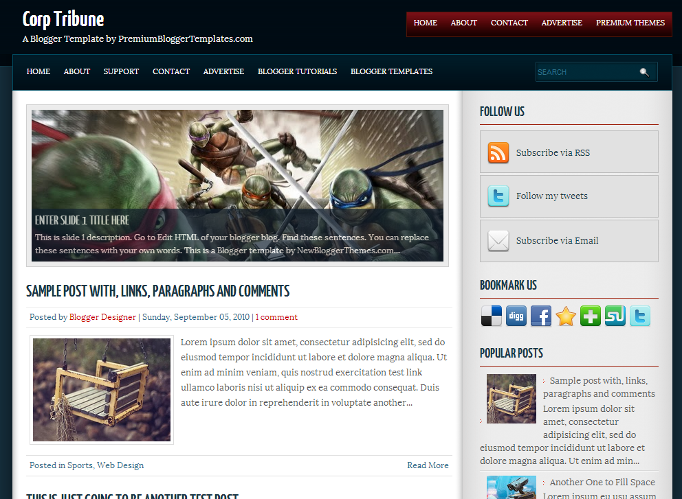 Share Corp Tribune Blogger Template