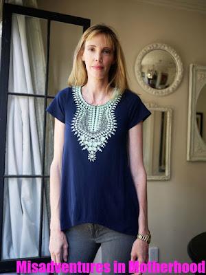 THML Kahlo short sleeve knit top