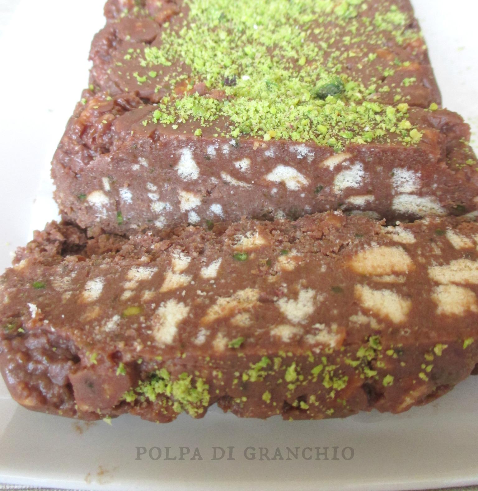 Polpa di granchio semifreddo nutella mascarpone e pistacchi for Ranch a forma di l