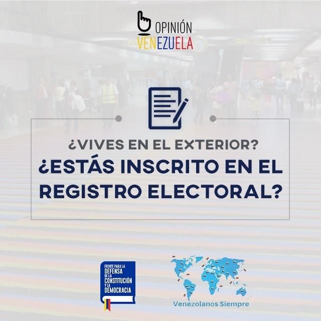 ¿Vives en el Exterior? ¿Estás inscrito en el Registro Electoral?
