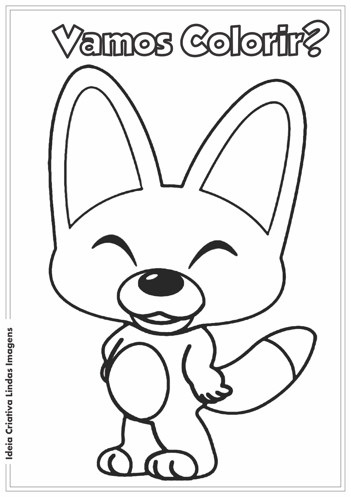 Turma do Pororo - Eddy desenho para colorir