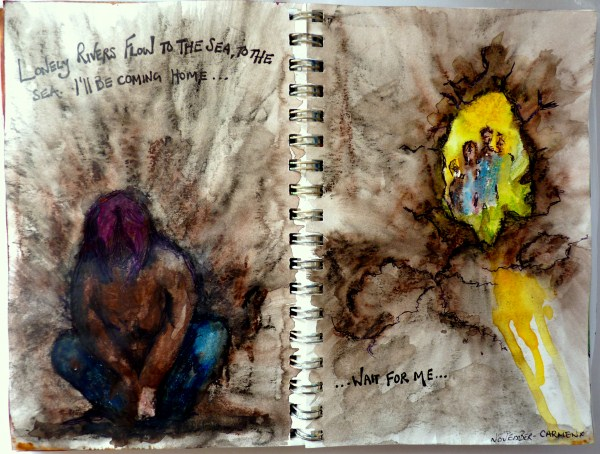 Whoopidooings (Carmen Wing) Dealing with Depression Art Journal page