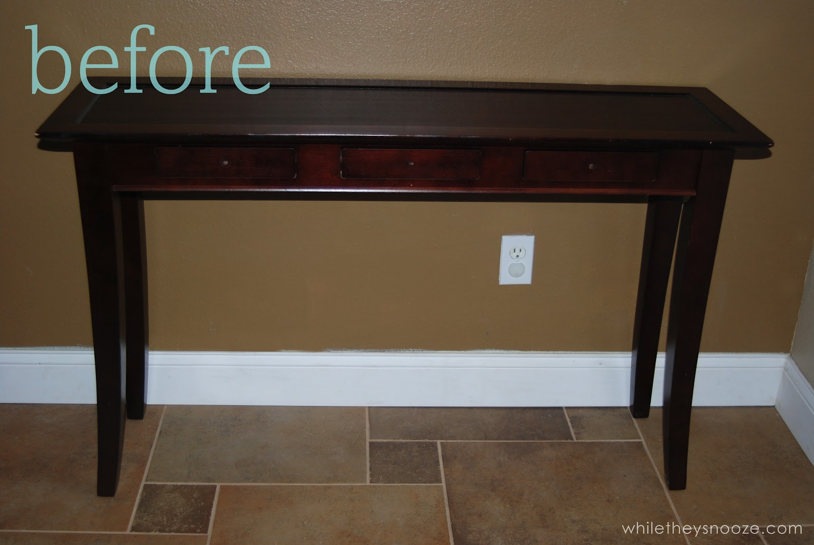 while they snooze entry table makeover