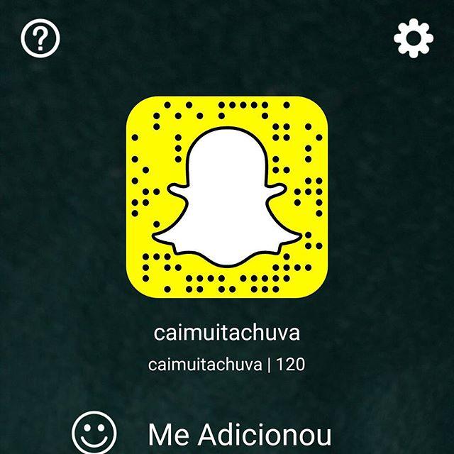 Cai Muita Chuva no Snapchat