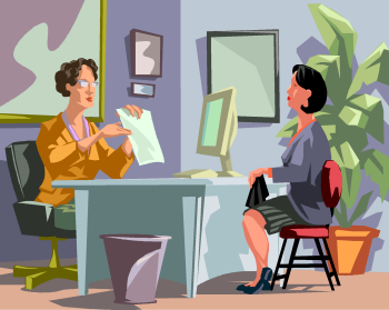 personne en entretien pour un emploi (illustration)