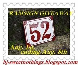 COMING SOON...RAMSIGN GIVEAWAY