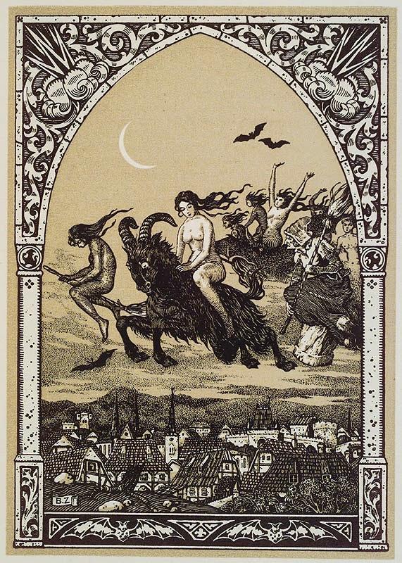 Bruxas Voando para o Sabbat, por Bernard Zuber 1926