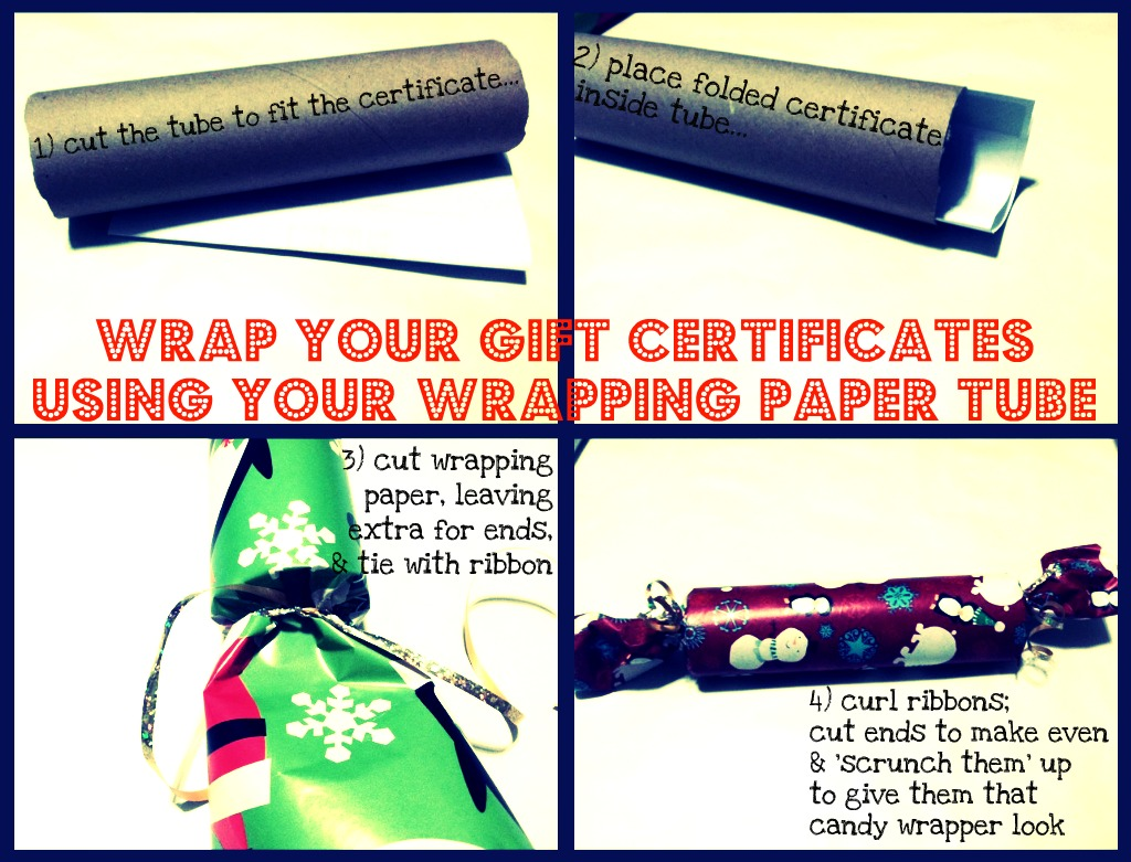 mad jackie candy wrap gift certificates using your wrapping each tube could be used for three certificates at 8 5 x 11 each since i only used two i ll be stashing the other piece my wrapping paper to use again
