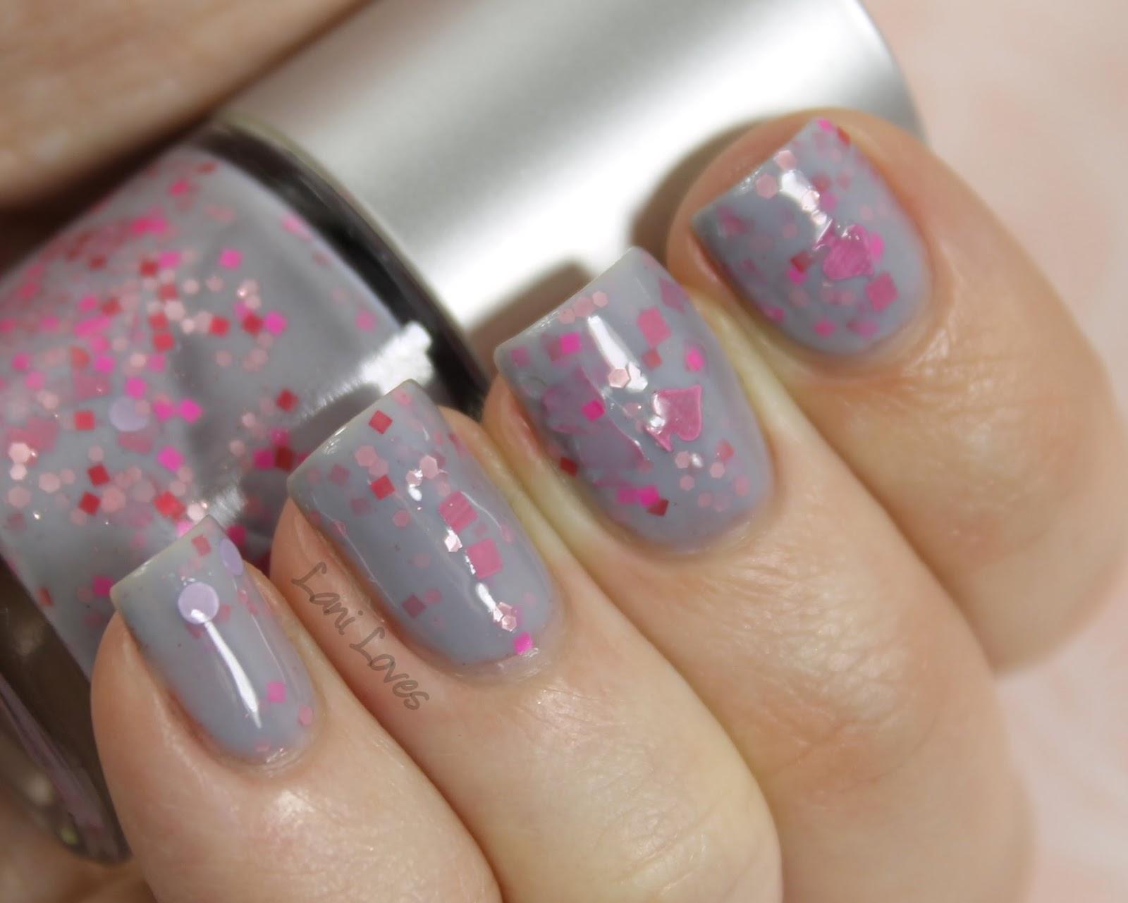 Star Kin Pink of Spades nail polish swatch