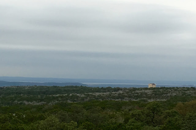 View from Observation Tower at Longhorn Cavern State Park-Lake and Castle in the Distance-Burnet, Texas
