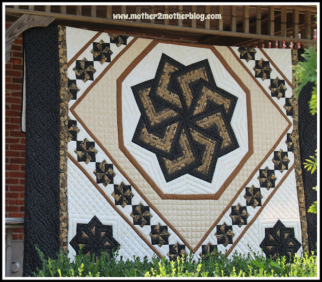 amish quilts, Lancaster Pa quilts, spinning star quilt, Sylvia's Quilts