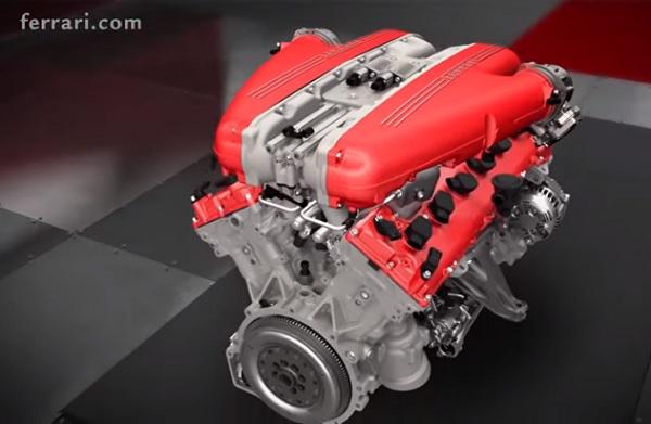 Este es el motor V12 del nuevo Ferrari F12 tdf (video)