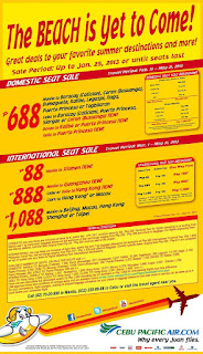 cebu pacific summer 2013 promo
