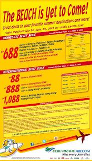 cebu pacific summer 2013 promo