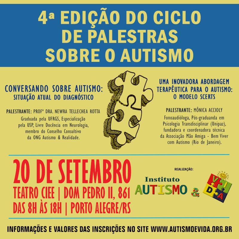 4ª Edição Ciclo de Palestras sobre o Autismo