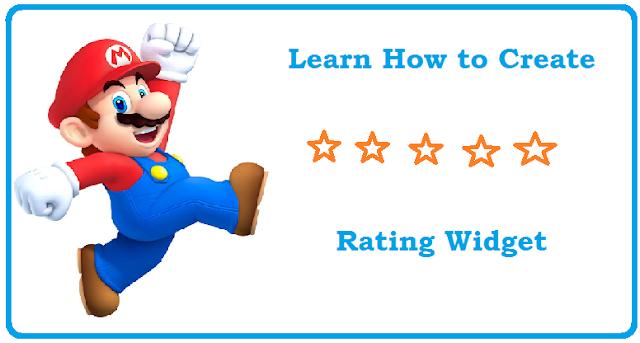 Five star rating widget for blogger