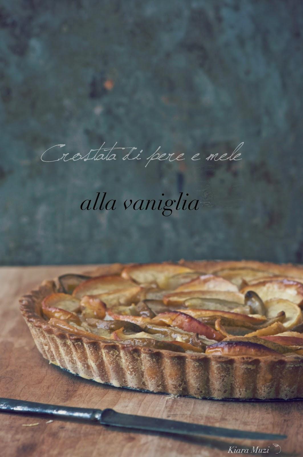 crostata di pere e mele alla vaniglia