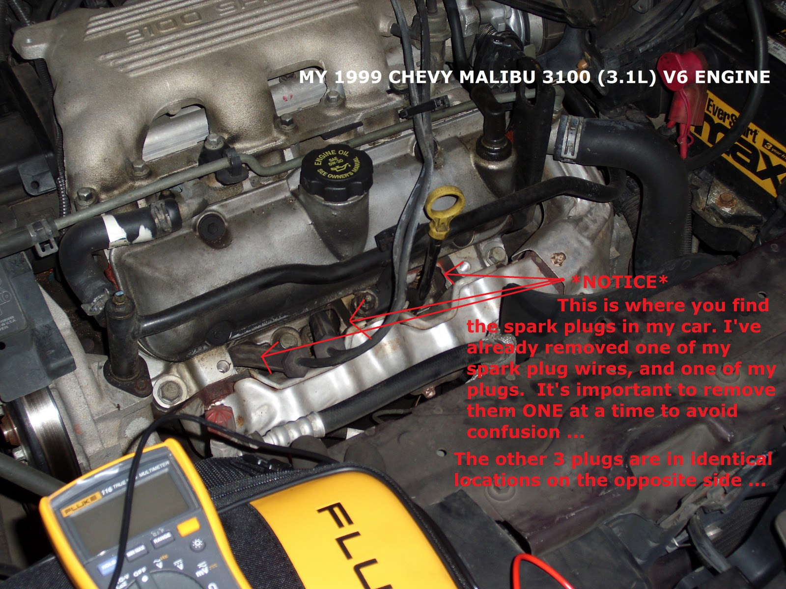 ... DSCI0643 self tune up (spark plugs & wires) on a 1999 chevy malibu ls