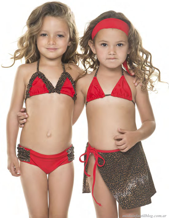 moda primavera verano 2014 bikinis nenas