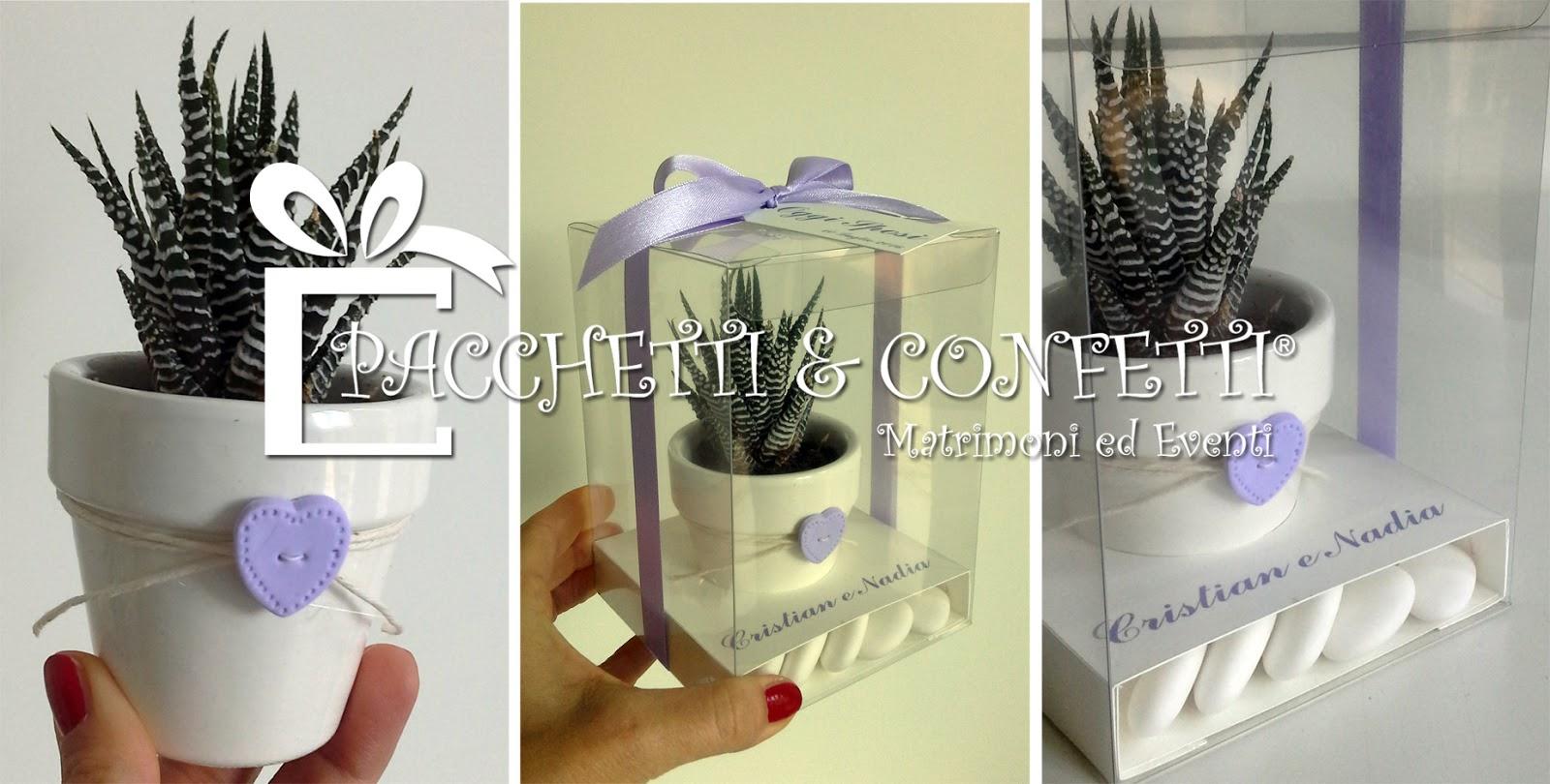 Favoloso Pacchetti e Confetti: Bomboniera Nozze con vasetto in ceramica KO83