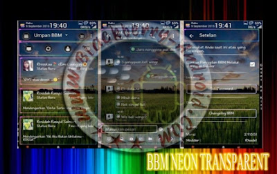 BBM MR Neon Full Transparent Mod New v2.9.0.51 Apk