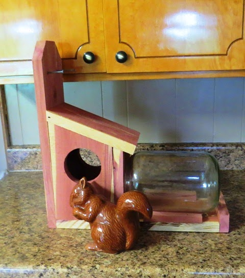 Cedar Squirrel Feeder 4 Sale
