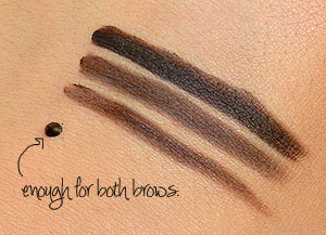 make up for ever eyebrow corrector swatches