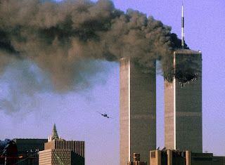 Devastation as second plane heads for Twin Towers