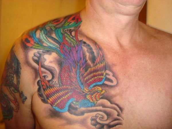 cool phoenix tattoos for men chest tattoo ideas for men and girls. Black Bedroom Furniture Sets. Home Design Ideas