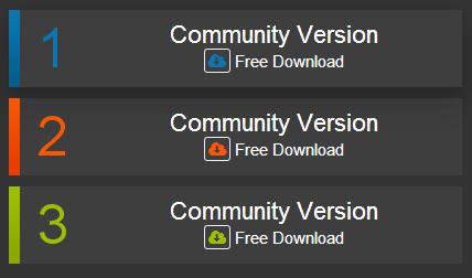 Cool Version Download Link design using CSS3