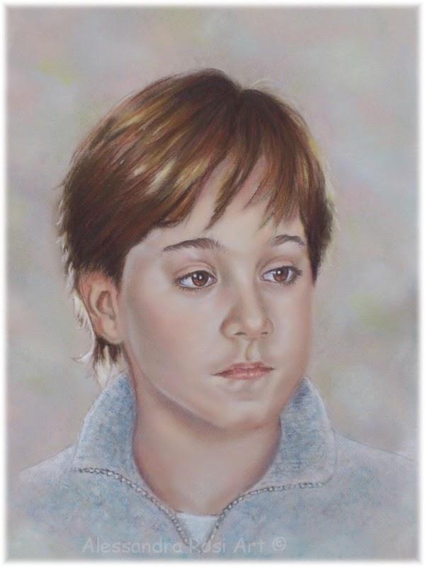 painted child's portrait, hand painted custom child portrait