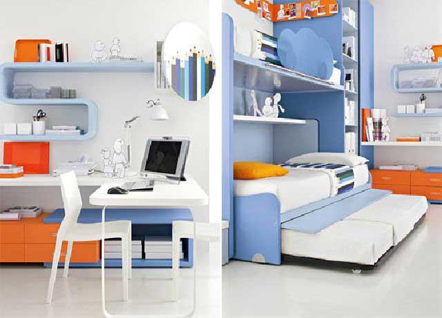 dekorasi kamar tidur anak warna warni gambar desain rumah