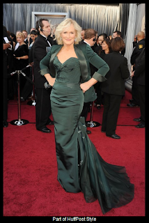 Oscars 2012 Glenn Close in Zac Posen