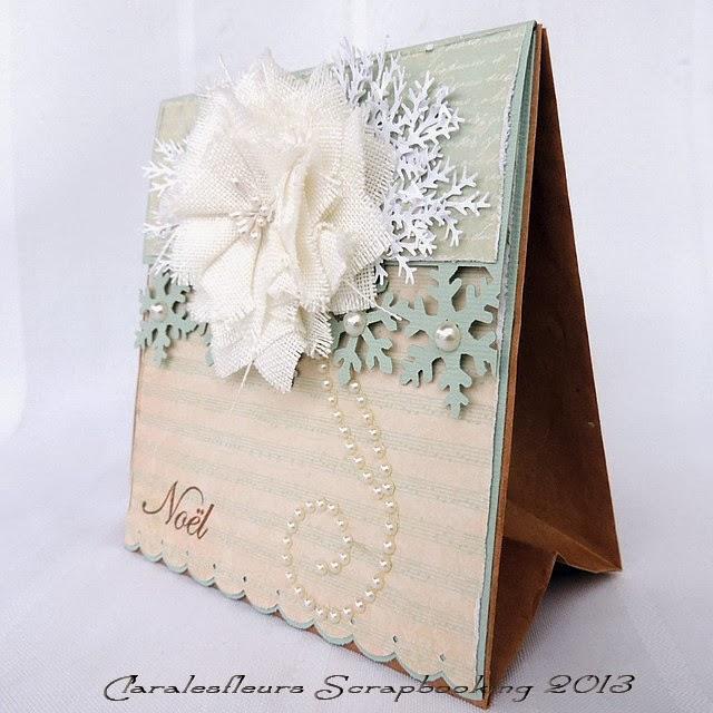 Claralesfleurs scrapbooking sac cadeau de no l avec la - Sac cadeau noel ...