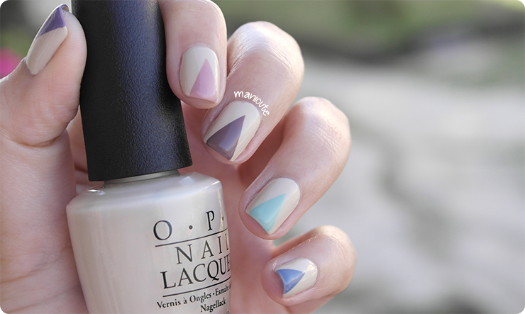 opi you're so vain-illa nail art triangles