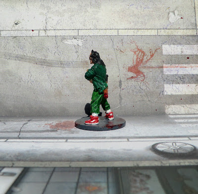 Zombicide Zombie Survivor Crazy Ned painted