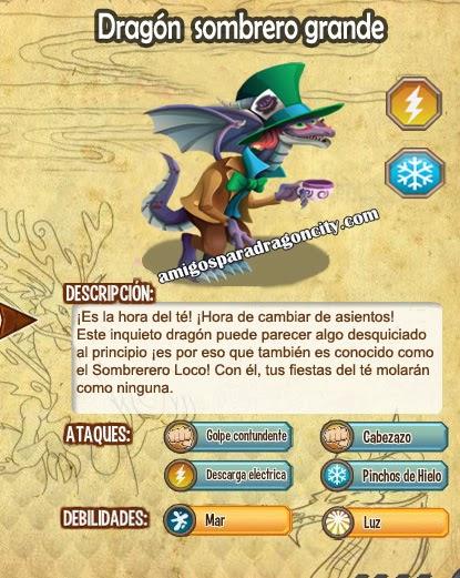 imagen de las caracteristicas del dragon sombrero grande