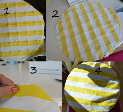 all the steps to re-do some pillows