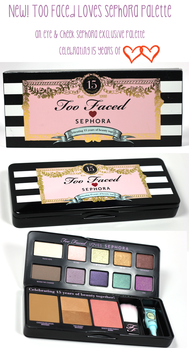 Too faced palette, Sephora