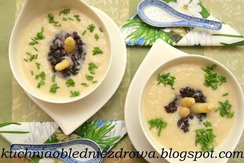 Kuchnia Oblednie Zdrowa Zupa Krem Z Bialych Szparagow Na Mleku